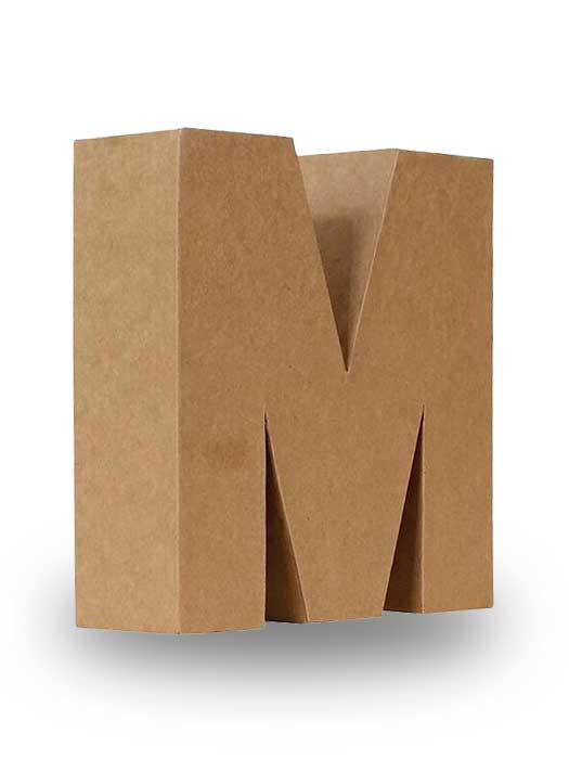 letras de cartón para decorar 25cm