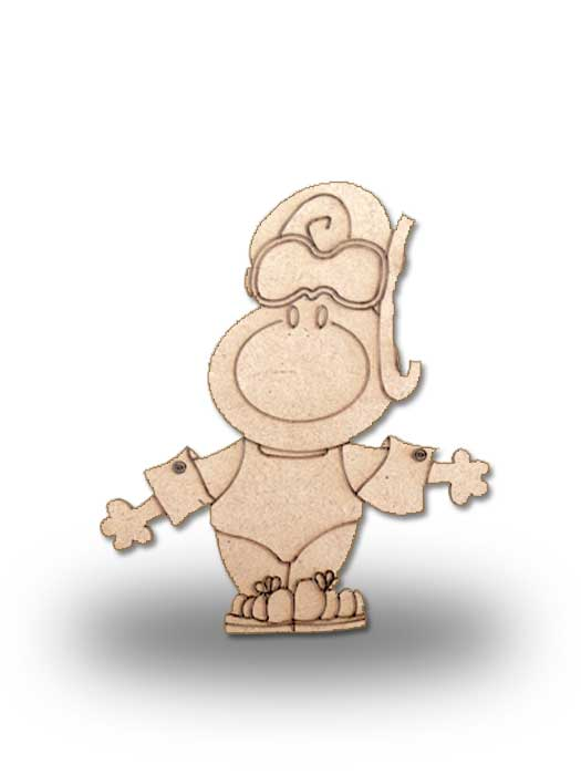 silueta de madera Pepi de buzo en SILU
