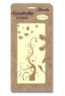 plantilla stencil carrotcake CK002 arbol y mariposas de SILU