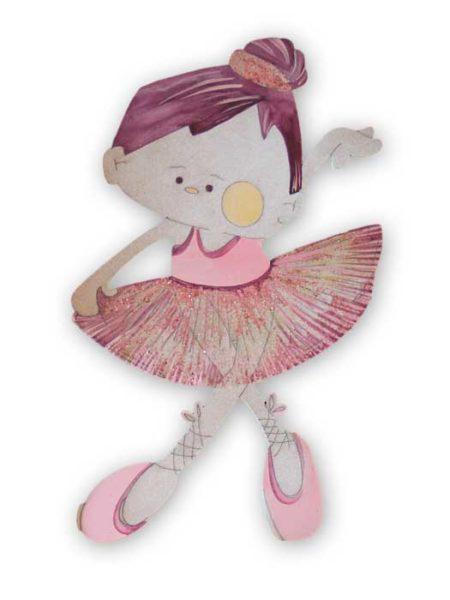 Bailarina con tutu - decorada