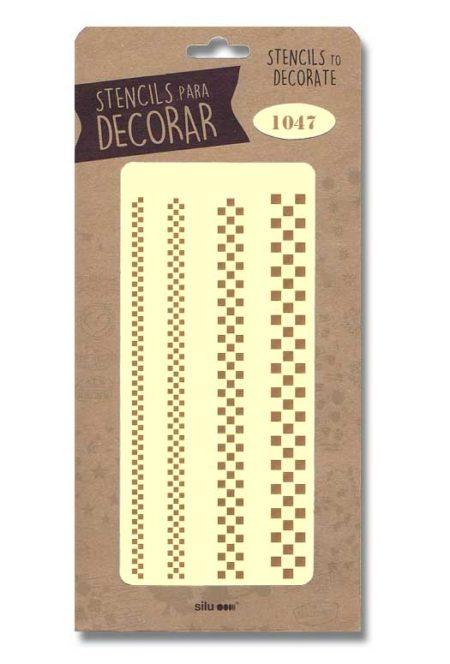 Stencil cenefas geométricas 1047
