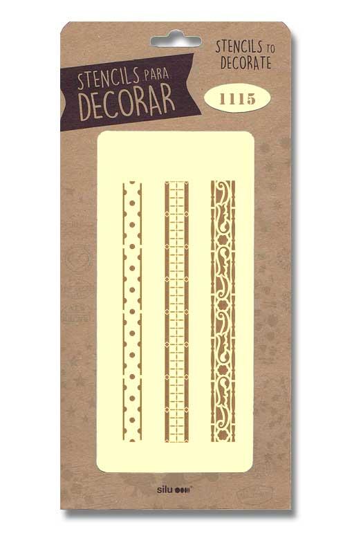 stencil cenefas silu 1115