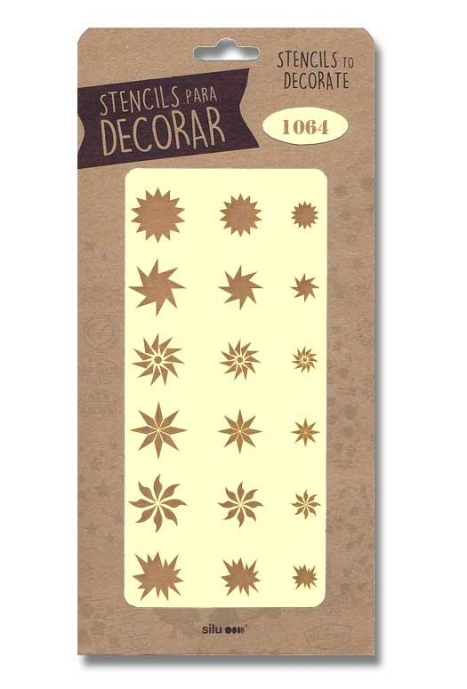 stencil estrellas silu 1064