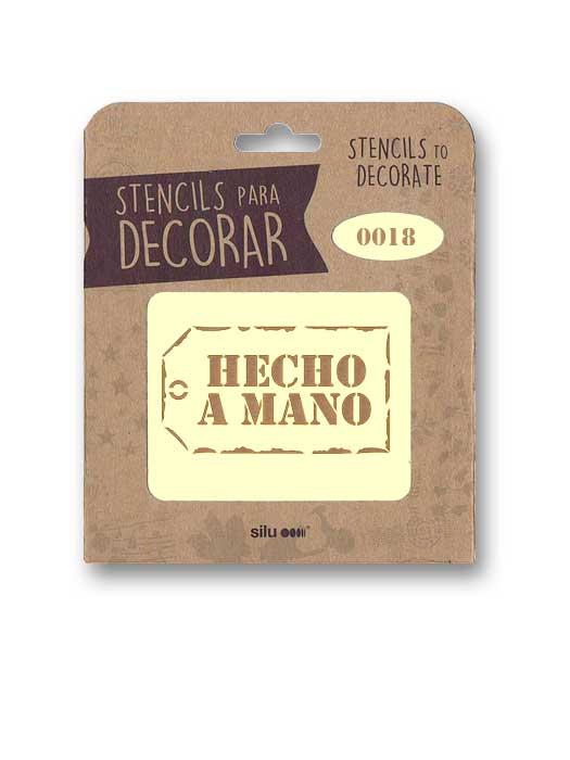stencil etiqueta hecho a mano