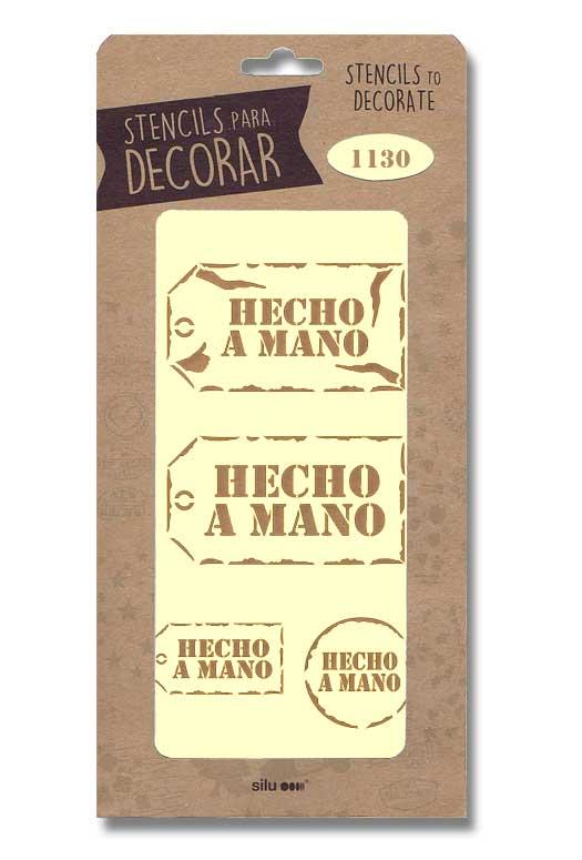 stencil etiquetas hecho a mano silu 1130