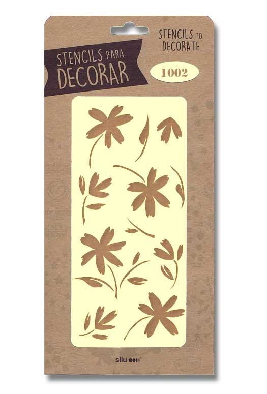 stencil flores silu 1002