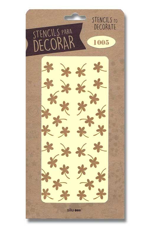 stencil flores silu 1005