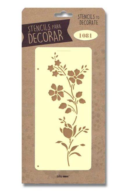 Stencil flores 1081