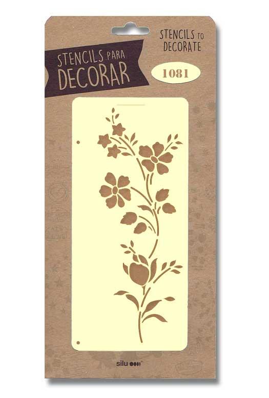 stencil flores silu 1081