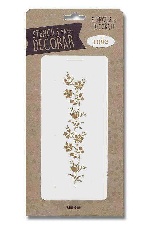 stencil flores para decorar