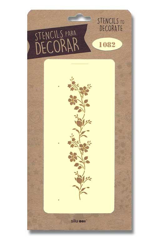stencil flores silu 1082