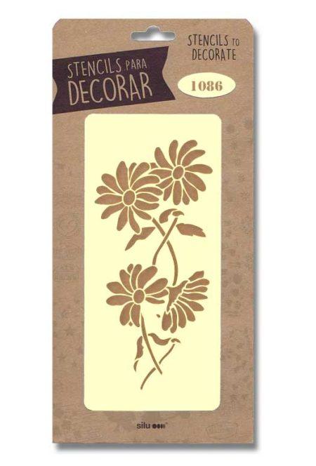 Stencil flores 1086
