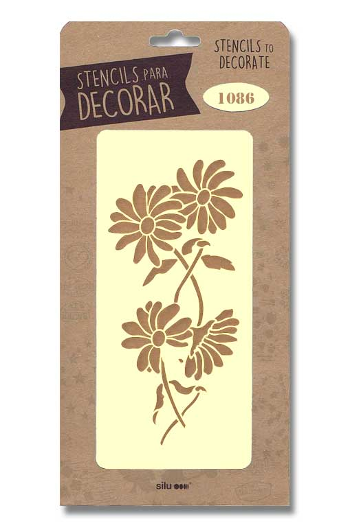 stencil flores silu 1086