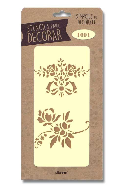 stencil flores silu 1091