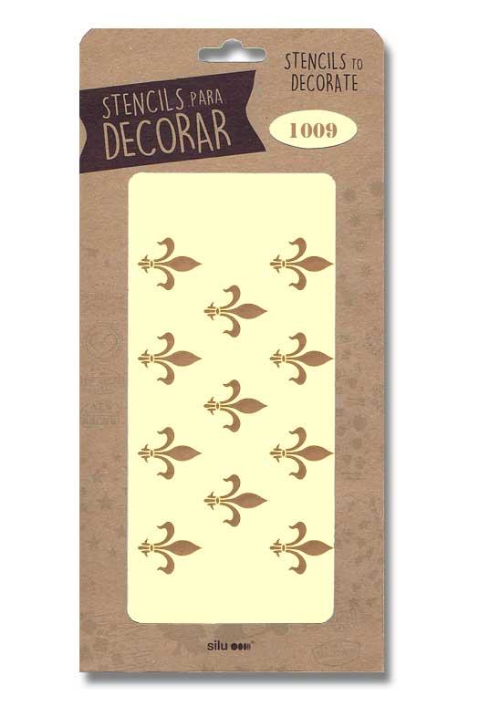 stencil fondo flor de lis 1009