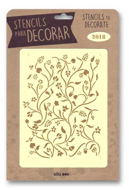Stencil fondo hojas 2018