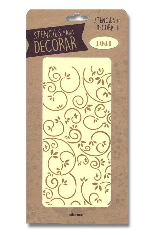 stencil fondo ornamental silu 1041