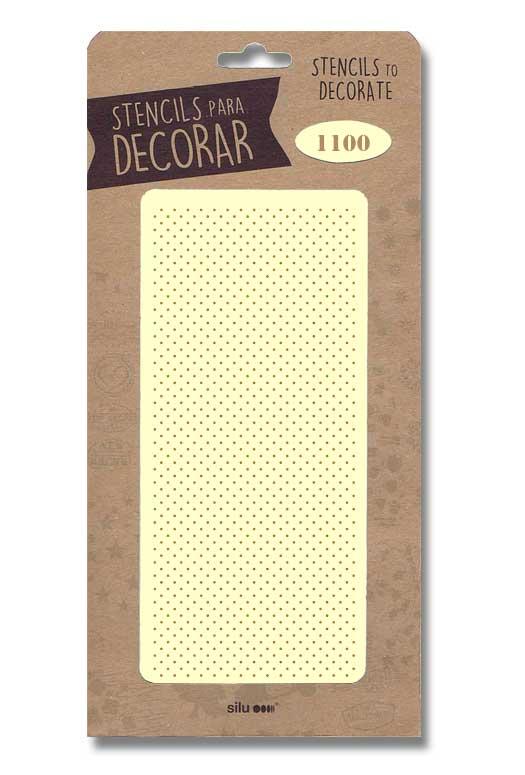 stencil fondo puntos pequeños silu 1100