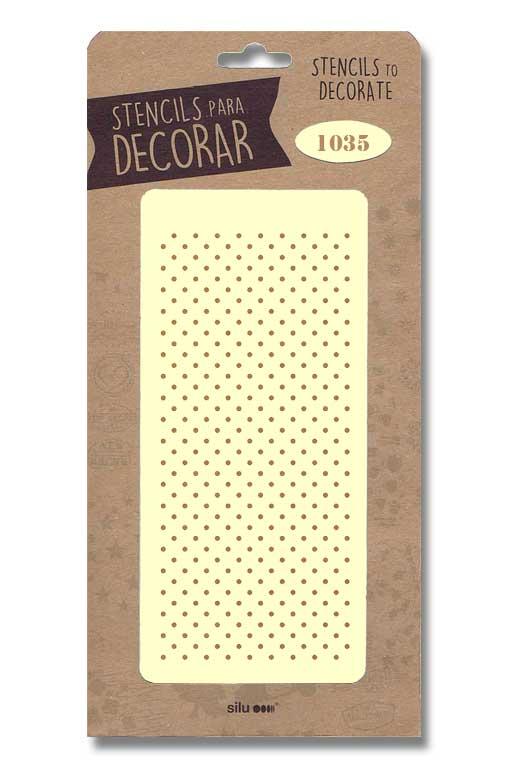 stencil fondo puntos silu 1035