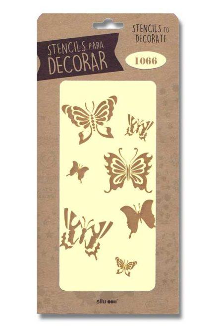 Stencil mariposas 1066