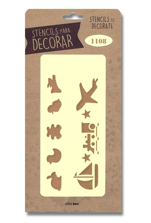 stencil motivo infantil silu 1108