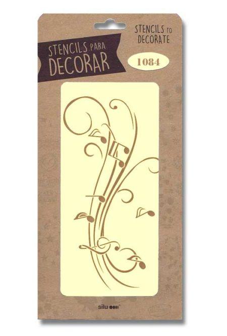 Stencil notas musicales 1084