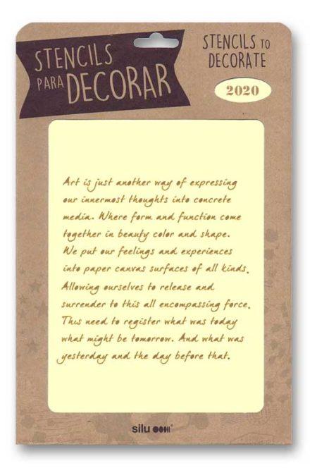 Stencil plantilla de textos para decoración 2020
