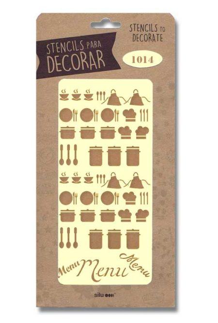 Stencil útiles cocina 1014