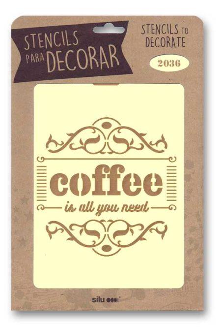 Stencil cartel Coffee 2036