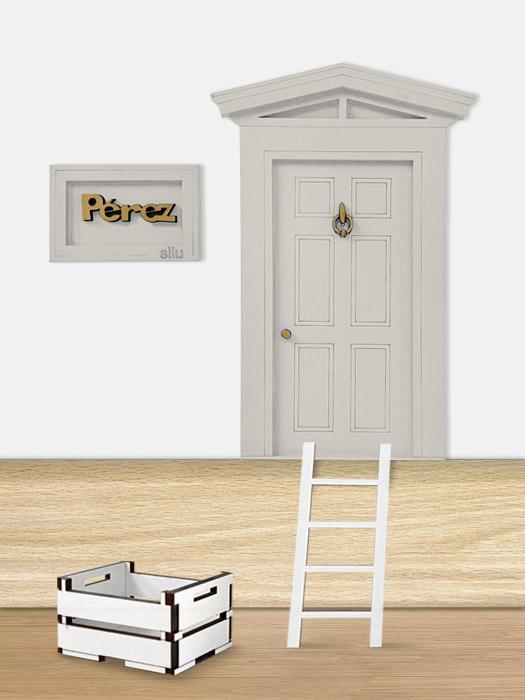 puerta ratoncito perez madera