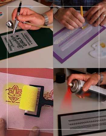 stencil silu para estarcido en manualidades