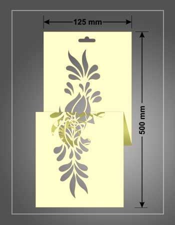 stencil para estarcido de 125x500
