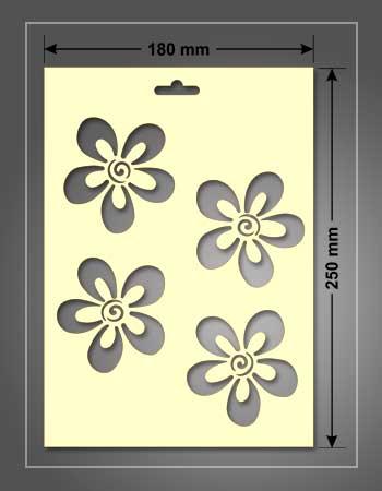 stencil para estarcido de 180 x 250