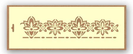 Stencil cenefa flores 9003