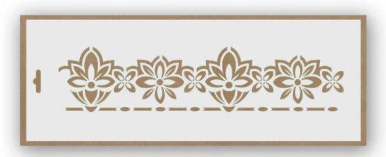 stencil cenefa flores