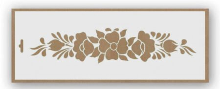 Stencil flores 9002