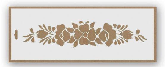 stencil conjunto de flores 9002