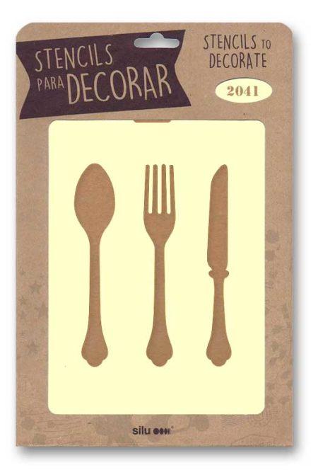 Stencil cubiertos 2041