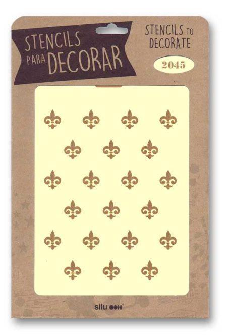 Stencil flor de lis 2045