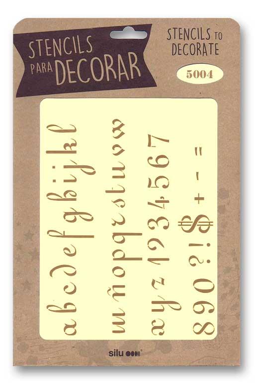 stencil letras silu 5004