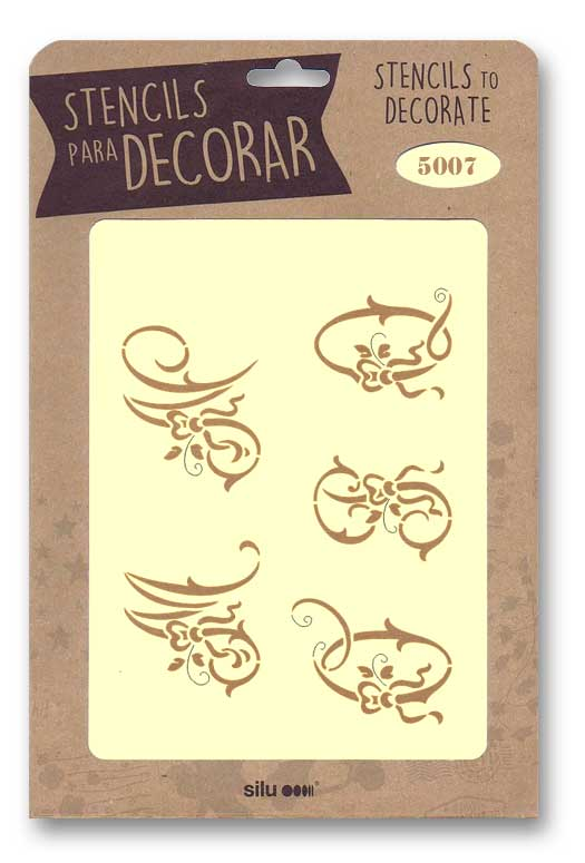 stencil letras silu 5007