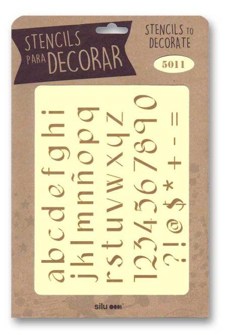 Stencil letras 5011