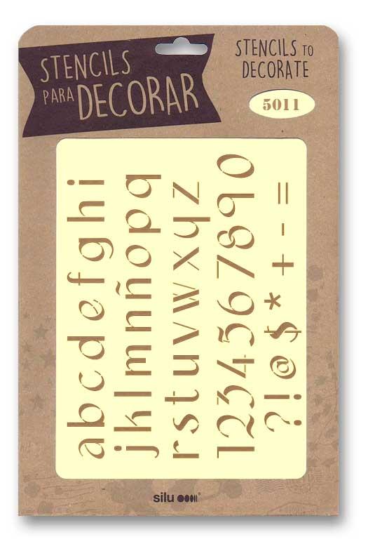 stencil letras silu 5011