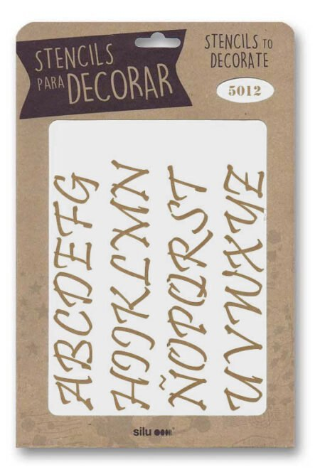 Stencil letras 5012