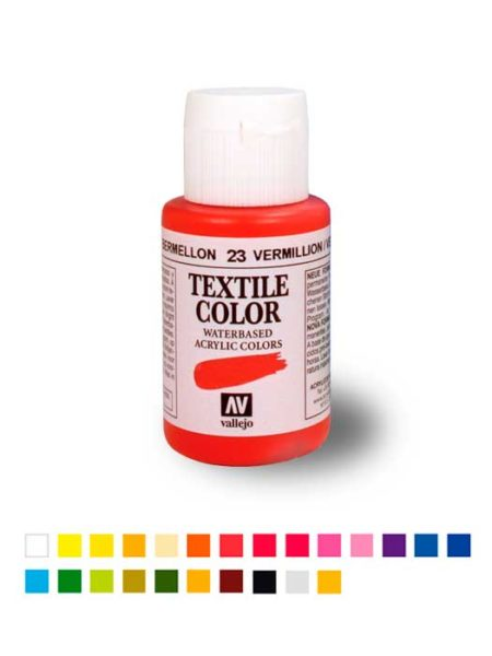Pintura acrílica Textile Color 35ml. Vallejo