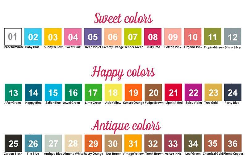 gama de colores carrotcake paint y spray