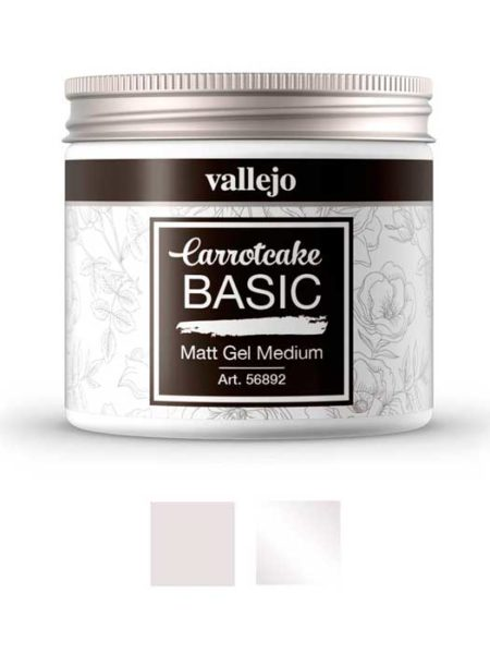 Gel medium brillo o mate Carrotcake de Vallejo