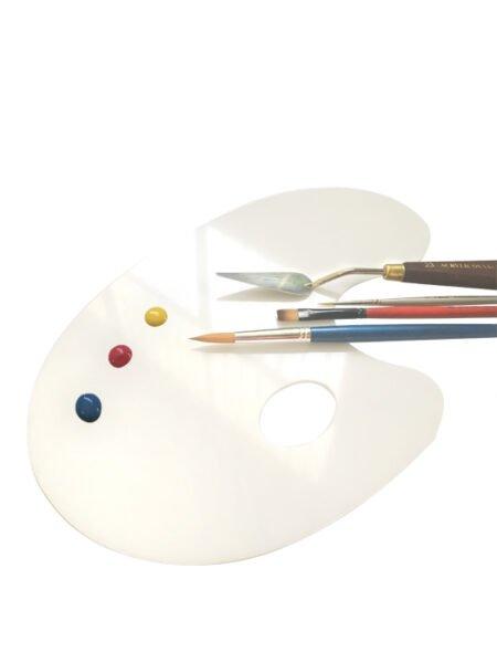 Paleta para pintores con forma en metacrilato