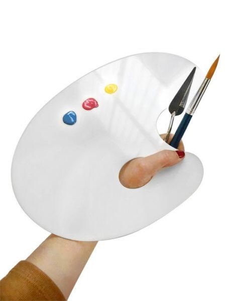 Paleta de Pintor Ovalada en Metacrilato
