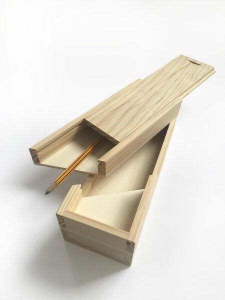 Plumier de madera 2 pisos clásico